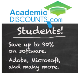 Students can save up to 90% off SRP!