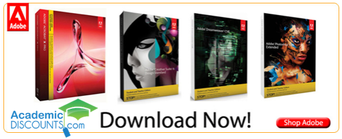 Students:  Save Big on Adobe Software!