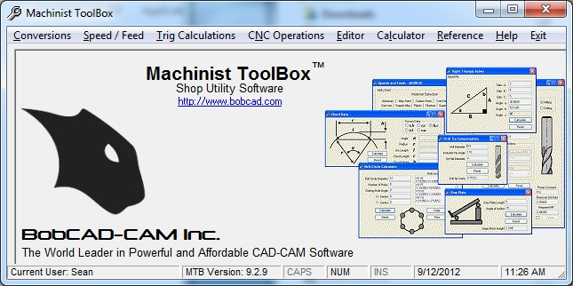 Machnist Toolbox Software