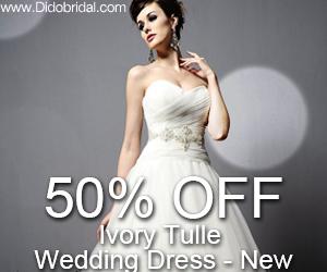 50% OFF Ivory Tulle Wedding Dress - New
