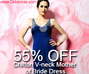 55% OFF Chiffon V-neck Mother of Bride Dress