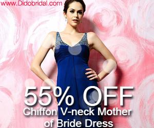 55% OFF Chiffon V-neck Mother of Bride Dress