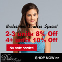 Buy more Save more, Extra up to 10% OFF on Bridesmaid Dresses, no code needed@Didobridal