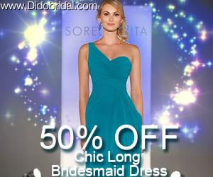 50% OFF Chic Long Bridesmaid Dress
