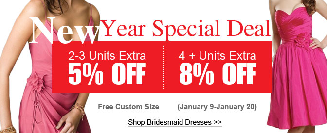 Up to 80%OFF,Chinese New year promotion @Didobridal.