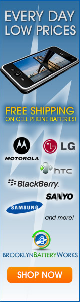 Free Shipping on All Cellular and Cordless Phone Batteries From Brooklyn Battery Works