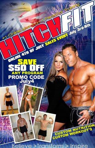 Save $50 off ANY Hitch Fit Online Training Program July 3 - 6