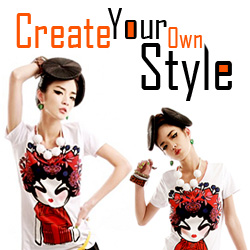 Create Your Own Style,Custom T shirts,Bags,Free shipping@panda-fly.com