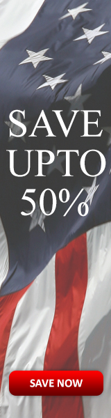 Save 50% and more on select flag casess