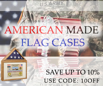 we offer discounts on Flags, Shadow cases, Frames, Military, Retirement Gifts and more