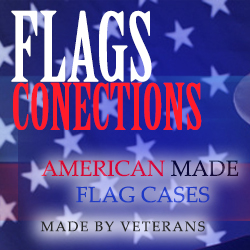 American Flags, and flag cases