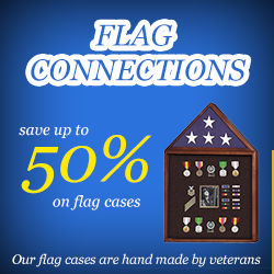 Save over 50% on flag display cases, and flag and medal display cases