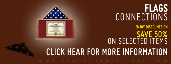We offer up to 50% on flag display cases