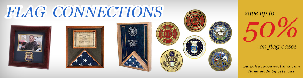 Save over 50% on flag display cases