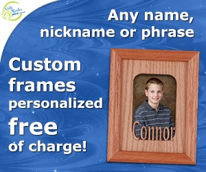 Engraved Name Frames