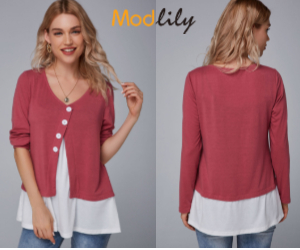 Modlily Dusty Rose Blouse: 33% Off for Limited Time Only!