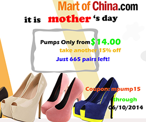 15% Off Pumps at Martofchina 300*250