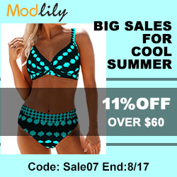 Big Sales for Cool Summer, 11% off over USD 60.00,code: Sale07,end:8/17