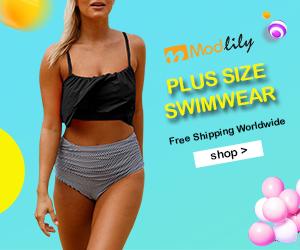 Plus Size Swimwear, Free Shipping Worldwide
