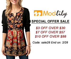 Special Offer Sale          $3 Off Over $30          $7 Off Over $57          $10 Off Over $88          Code: sale28 End on: 2/28