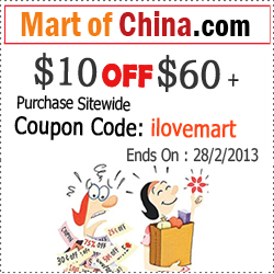 """Amazing, $10 OFF when order $60+, use coupon """"ilovemart"""" when check out!"""
