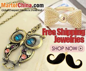 Free Shipping Jewelries of Martofchina