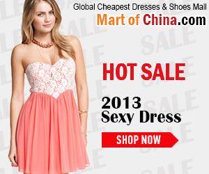 Hot Sale Sexy Dresses 2013 of Martofchina