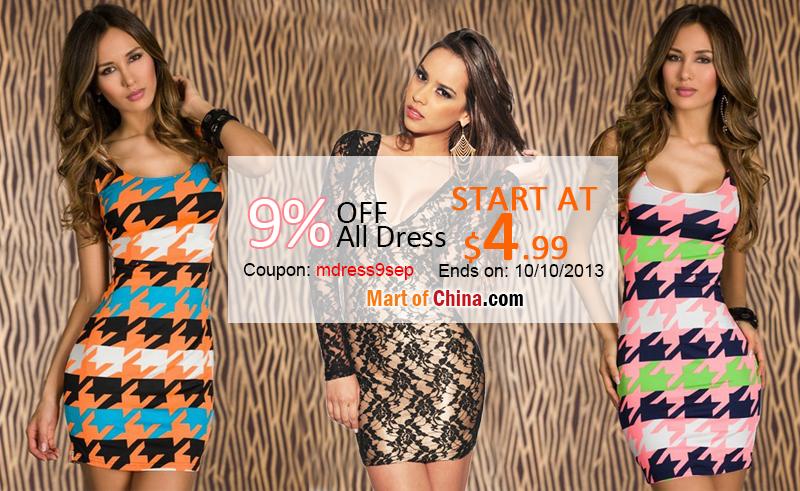 9% Off All Dress 800*491