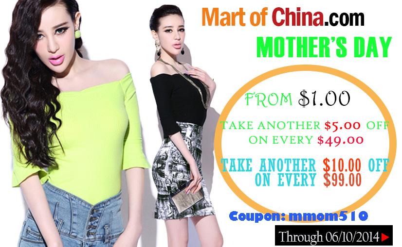 Take $5 Off Order $49+; Take $10 Off Order $99+ at Martofchina 826*510
