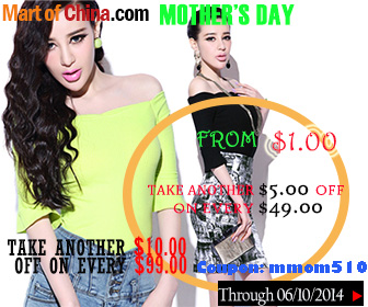 Take $5 Off Order $49+; Take $10 Off Order $99+ at Martofchina 336*280
