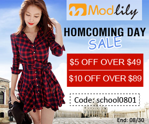 Homecoming Day Sale: $5 over $49, $5 over $49 with coupon code: school0801 only available for homecoming dress end on August 30th