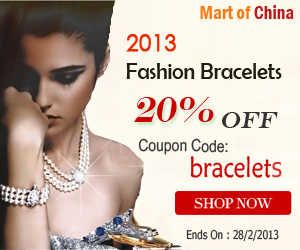 Big Sale, 20% OFF on Bracelet on Martofchina, use coupon