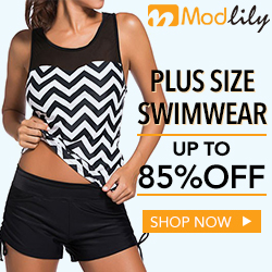 Plus size swimwear, up to 85% off