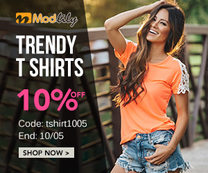 10% off for trendy t shirts Code: tshirt1005  End: 10/05