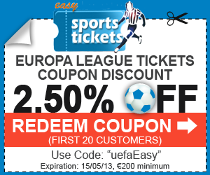 Buy now and get great official tickets for the UEFA Europa League 2013 Final interesting match at the best prices in the market Guarantied!