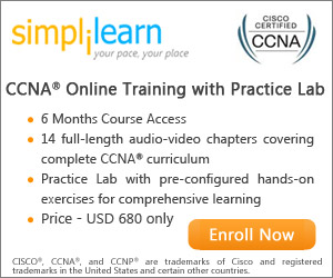 CISCO CCNA Online Course from Simplilearn