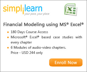 Financial Modeling using MS Excel Online Course from Simplilearn
