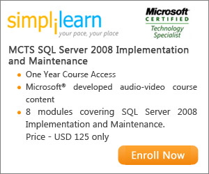 MCTS SQL Server 2008 Online Course from Simplilearn