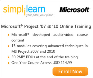 MS Project 2007 & 2010 Online Course from Simplilearn