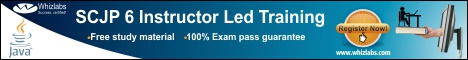 SCJP 6 Instructor  led training with free study material and 100% Exam pass guarantee