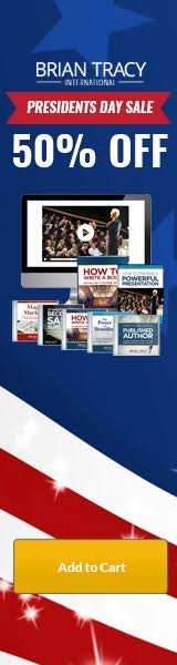 Presidents' Day Sale - Take 50% Off on How to Write A Book and Become a Published Author Virtual Training Course. Order Now from BrianTracy.com. This sale ends on February 20th.