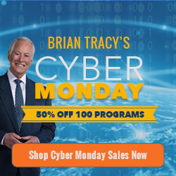 Cyber Monday Sale Special - Get 50% Off on 100 Programs from Business Success, Sale Success, and Personal Success Collections at BrianTracy.com! This sale valid only on November 30th.