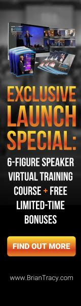 Find out more on Exclusive Launch Special when you purchase 6-Figure Speaker Virtual Training Course and receive The Power of Effective Communication and Epic Book Launch from BrianTracy.com. Click Here To Get More Information!
