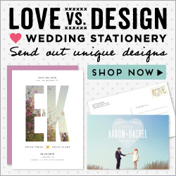 Love vs Design Wedding Save the Dates