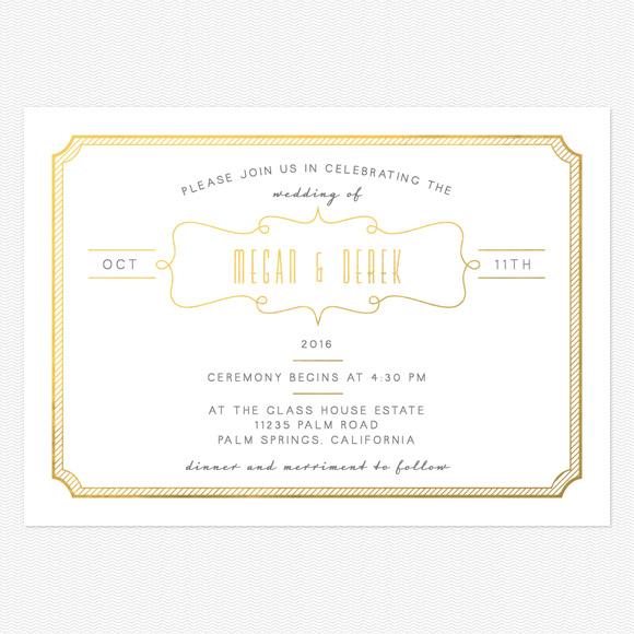 Blue Skies Foil Wedding Invitations