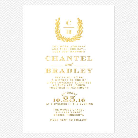 Charming Woods Foil Wedding Invitations