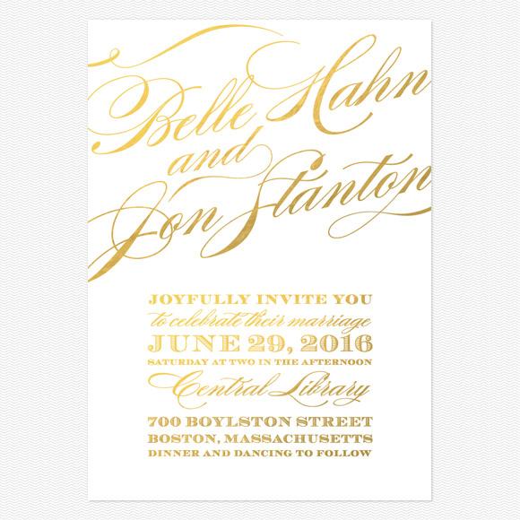 Cheri Foil Wedding Invitations
