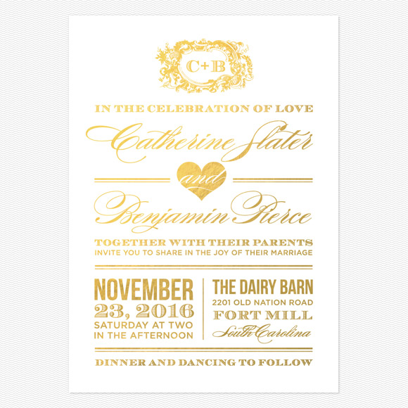 Style and Grace Foil Wedding Invitations