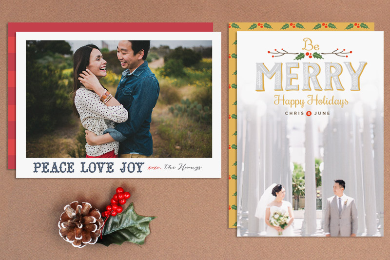 stylish holiday cards