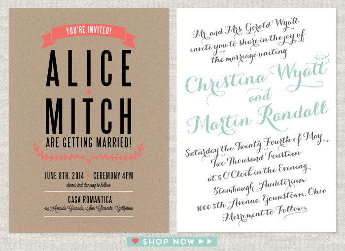 Wedding Invitations Love vs Design